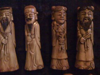 Chinese Carving  8 Immortals  5  Inches Tall photo