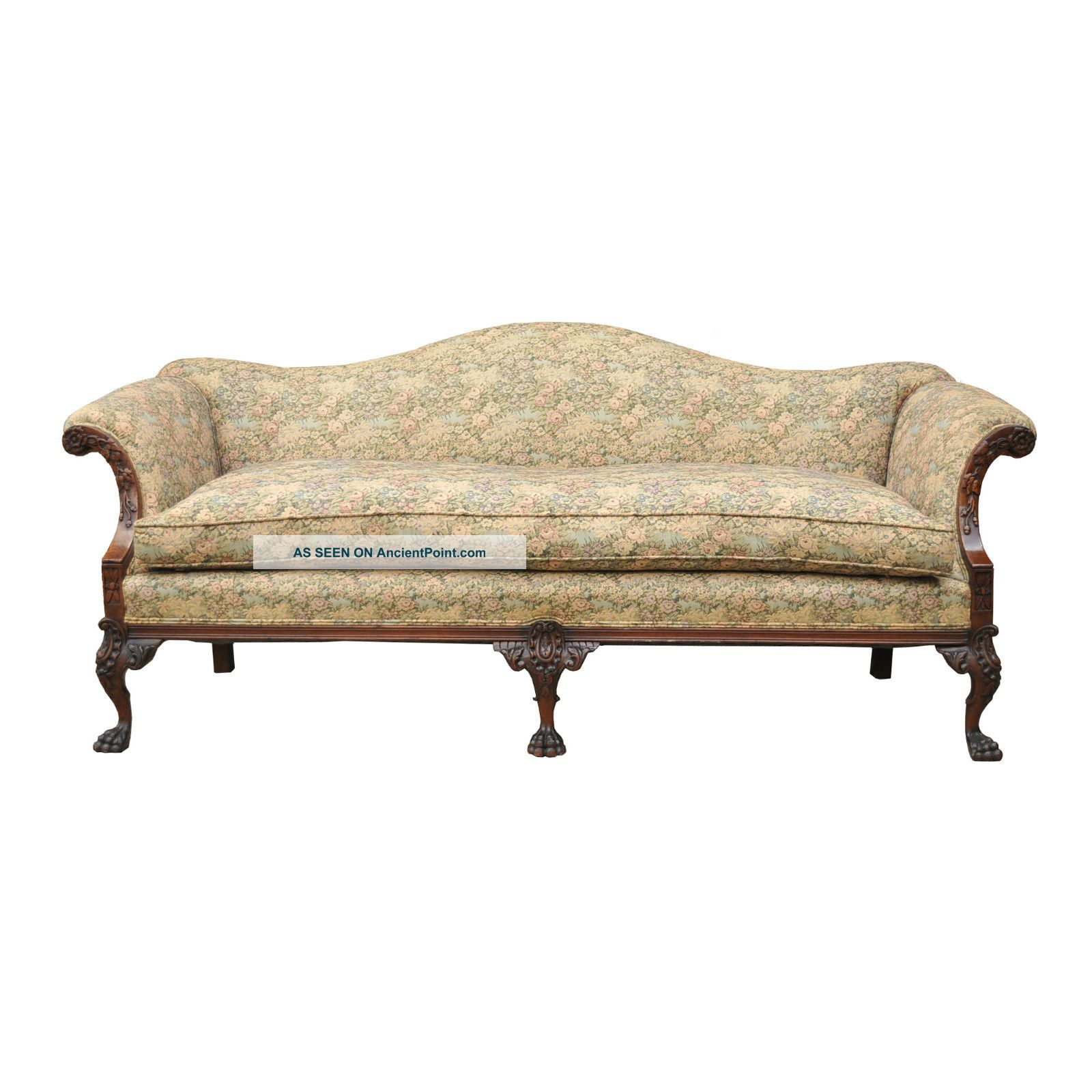 Filename:  Antique_carved_mahogany_camel_hump_back_paw_claw_foot_chippendale_style_sofa_vtg_1_lgw
