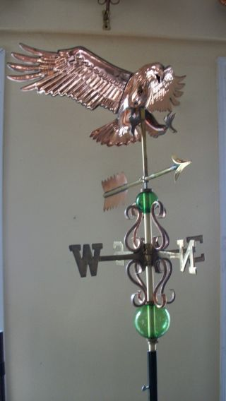 Copper Eagle Weathervane,  Made Of Copper Complete Setup photo