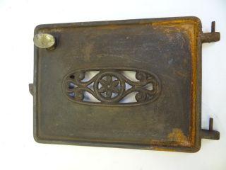 Antique Metal Cast Iron Nickelplate Handle St Elv Gas No 20 Stove Heater Door Nr photo