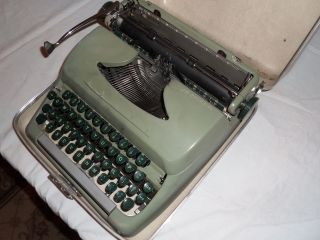 Vintage 1949 Sears Tower Typewriter 100% Working Case Included photo