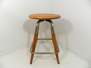 Vintage S Bent & Bros Swivel Stool Mid Century Chair photo