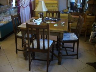 Barley Twist Oak,  Chairs With Slat Back photo