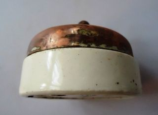 Vintage Brass Porcelain Vitreous Electric Switch England 3 photo