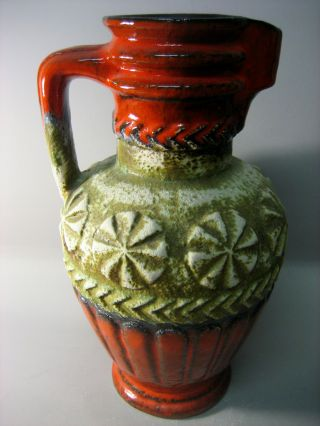 Large Early 1960s West Germany Handled Jug Vase,  Collectable photo