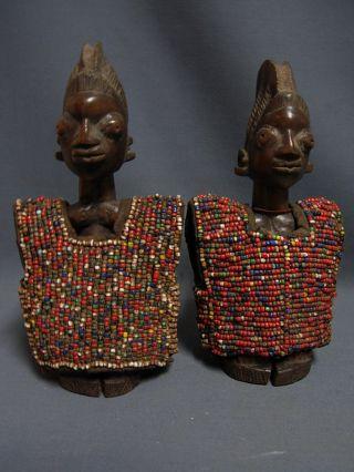 101,  Ilorin Ibeji Male & Female Pair With Beaded Jackets,  Yoruba / Santeria photo