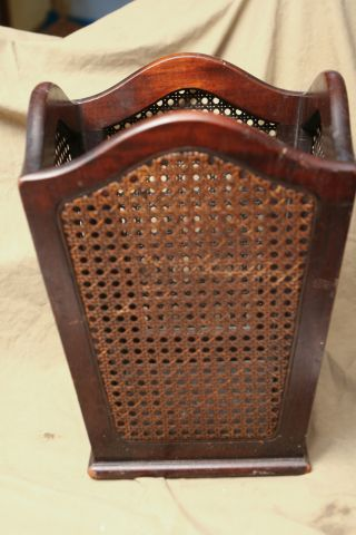 Antique Victorian Wicker Rattan Waste Basket 2022 Furniture Ratten & Wood photo
