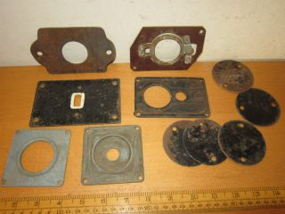 Vintage /retro Switch Plates / Back Plates For Toggle Switches Inc.  Crabtree photo