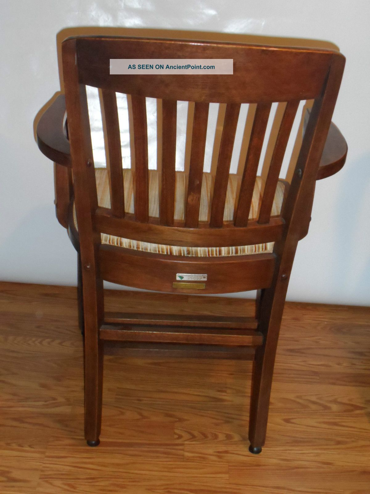 Amazing photo of Vintage 1930s Walnut Wood Arm Chairs Charleston Sc Bank Refinished  with #6C3E20 color and 1200x1600 pixels