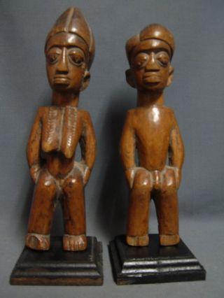104,  Collectable Ibeji Male & Female Pair,  Yoruba / Santeria photo