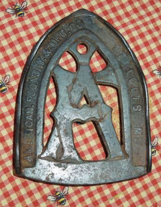 Antique American Foundry & Mfg.  Co,  St Louis Mo Cast Iron Trivet photo