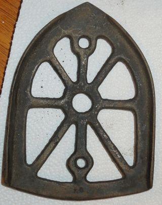 Antique Decorative Cast Iron Trivet photo