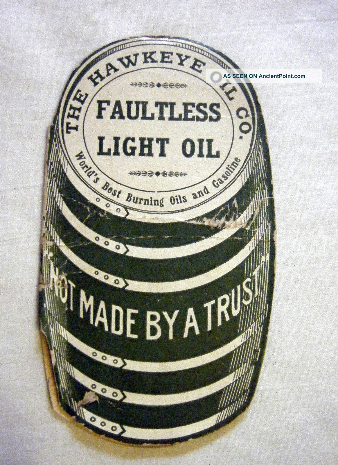 Hawkeye Oil Co.  Faultless Oil Sewing Needles Pkt.  Not Made By A Trust Ia 1910 Needles & Cases photo