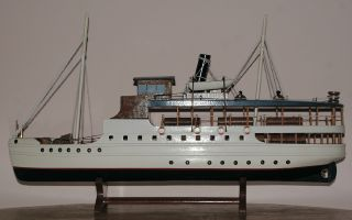 Unknown Steamboat Ship Model,  Dampfschiff Modell Passagierschiff Flussboot photo