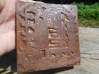 C1880 ' S Star Roller Mills Copper On Metal Printers Block Grand Rapids,  Mi Rare photo