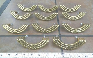 Amerock Vintage Brass Pulls Handles Art Deco Drawer Of 11 photo