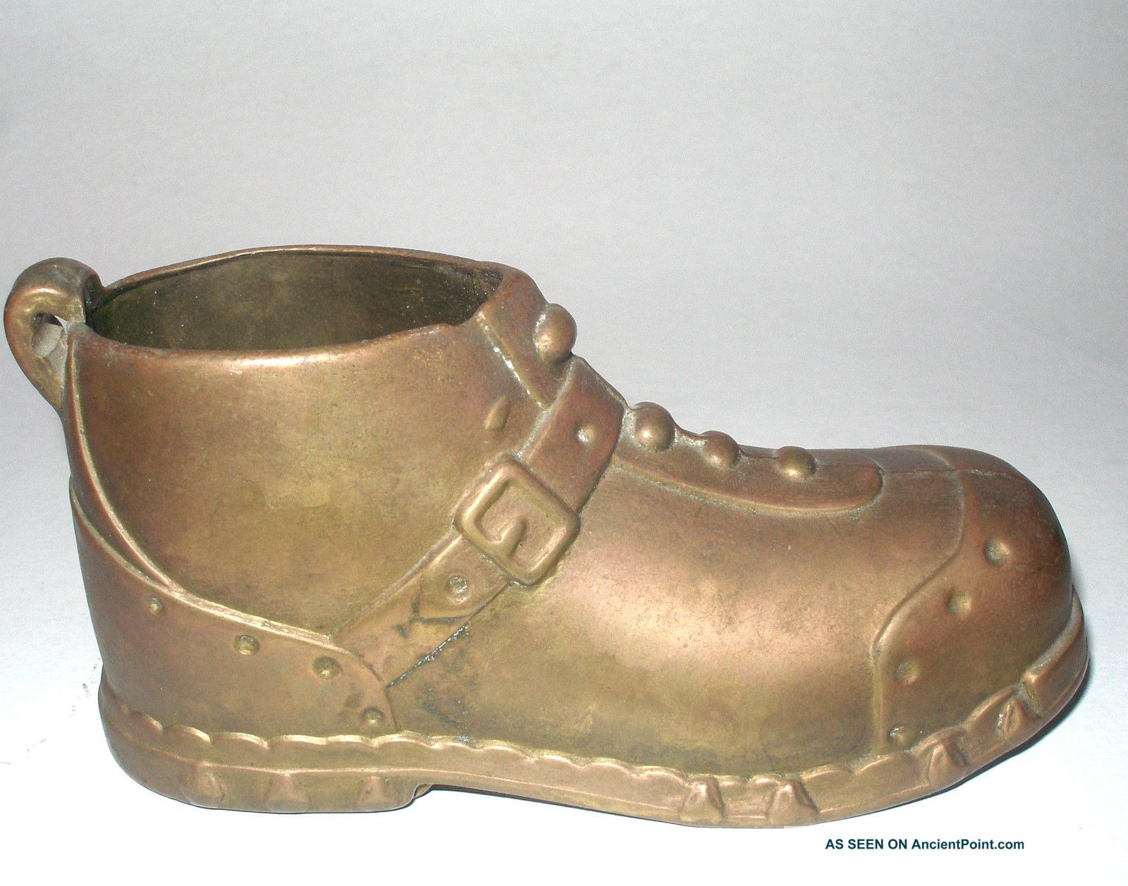 Child Size Hobnail Brass Boot Shoe Totally Brass Sole Old Uncategorized photo