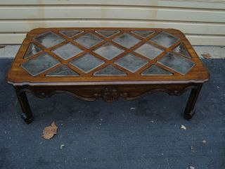 51453 Drexel? Heritage Large French Coffee Table With Glass Inserts photo