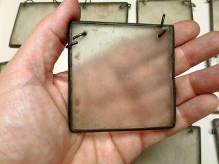 21 Vtg Antique Brass Framed Glass 2 1/2