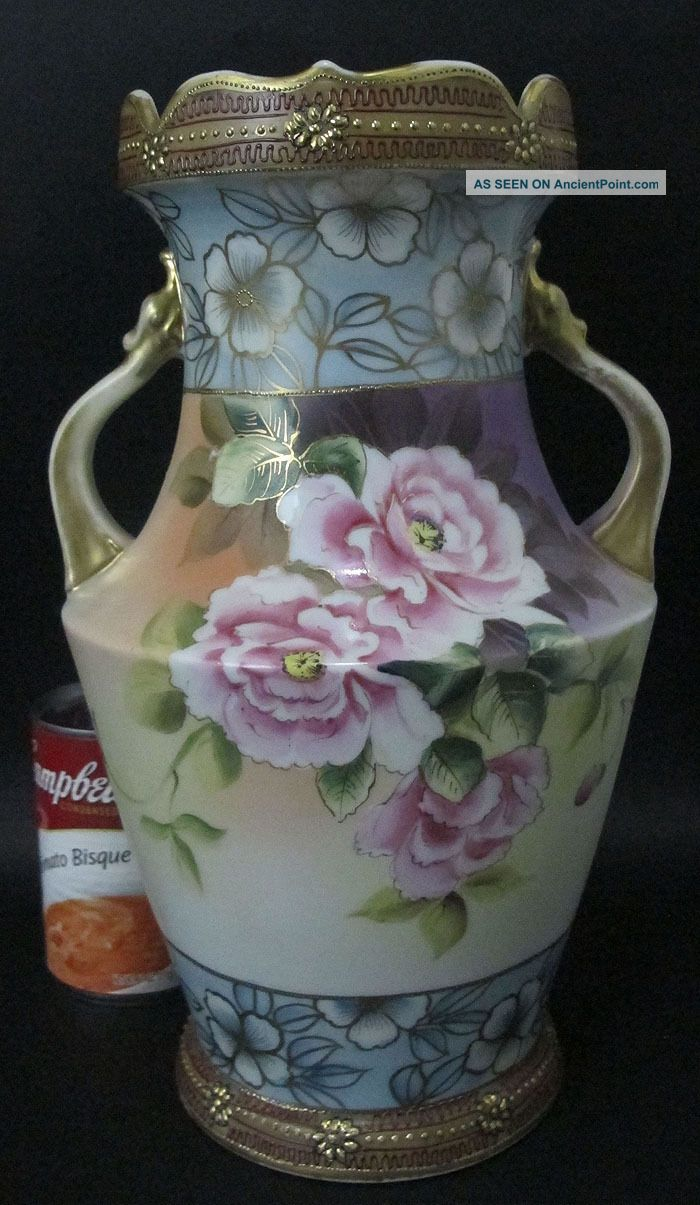 Gorgeous antique large hand painted moriage imperial nippon vase gorgeous antique large hand painted moriage imperial nippon vase 12 nr 2 yqz reviewsmspy