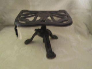 Antique Iron Trivet Justryte Adjustable Rd No 758704 No 729 British Made photo