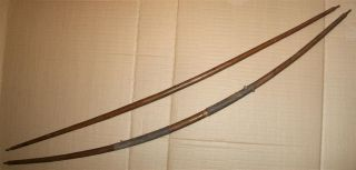 Congo 2 Old African Bows Ancien Arc Ngbaka Ngbandi Afrique Kongo Africain Boog photo