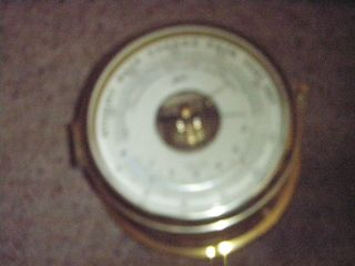 Vintage Schatz German Royal Mariner Ships Clock Barometer Working photo