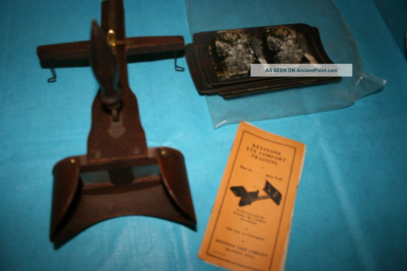 Keystone Circa 1937 ' Prescription ' Wood Handheld Stereoscope Pictures & Booklet Other photo