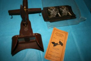 Keystone Circa 1937 ' Prescription ' Wood Handheld Stereoscope Pictures & Booklet photo