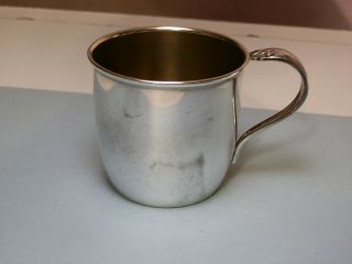 1950 Daffodil Silver Soldered Baby Cup With Gold Washed Interior photo