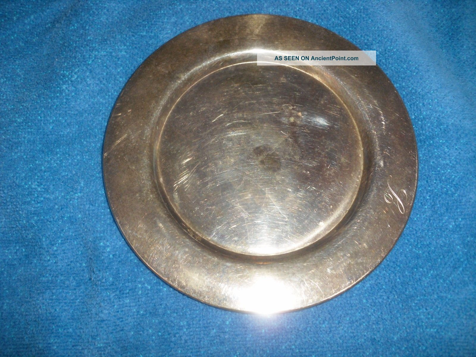 Antique Silver Small Plate By Oneida - Wm.  A.  Rogers - 6 Inch In Diameter Oneida/Wm. A. Rogers photo