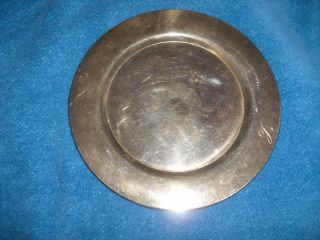 Antique Silver Small Plate By Oneida - Wm.  A.  Rogers - 6 Inch In Diameter photo