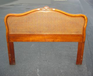 Vintage Made By Dixie French Provincial Cane Headboard Solid Wood photo
