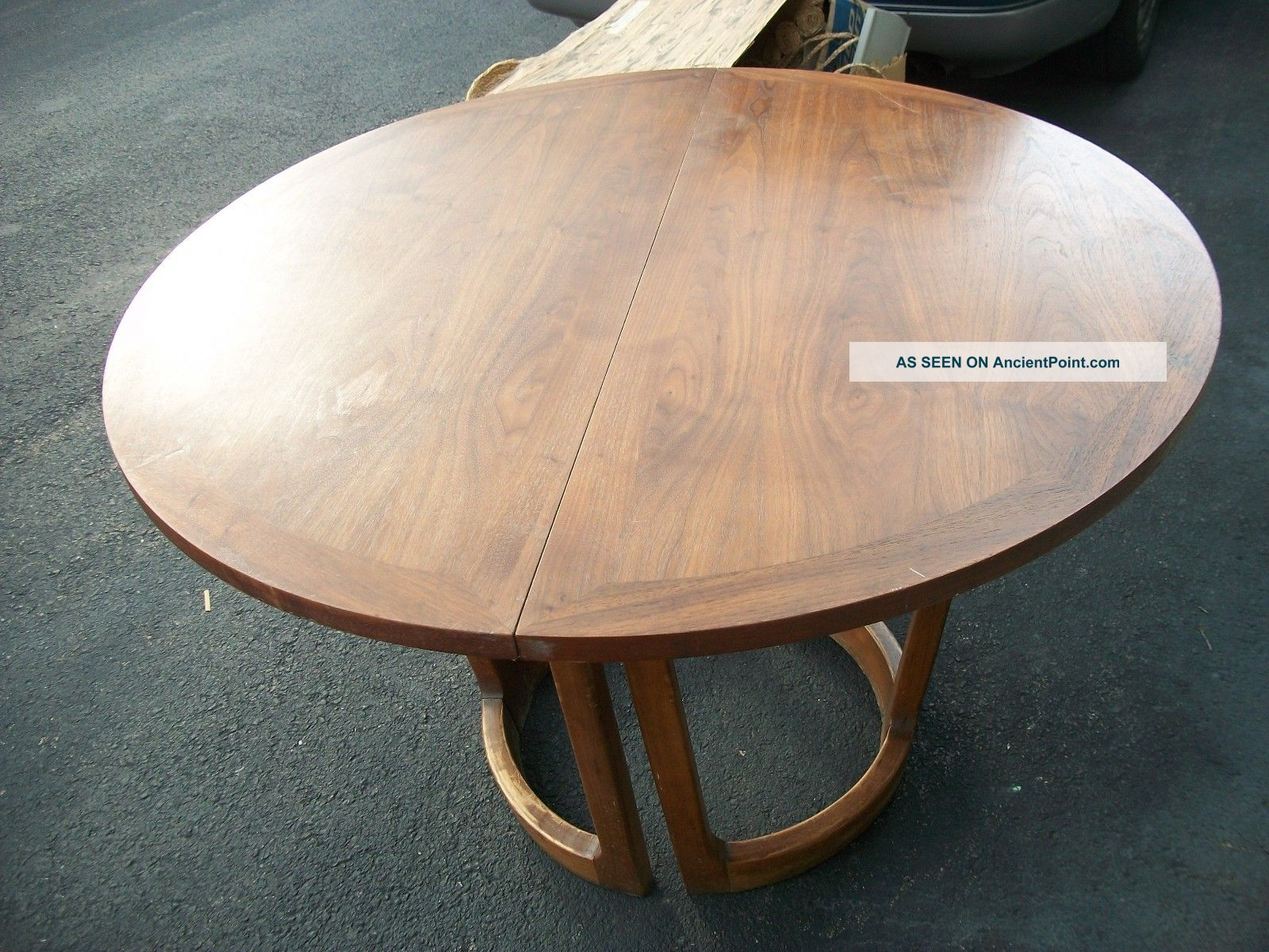 Fine Wood Dining Table With Protector Leaf Post 1950 Photo 4