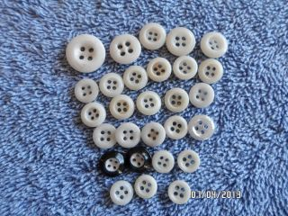 Vintage Porcelain Sewing Buttons Of 28 Crafts Clothes photo
