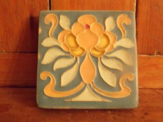Arts And Crafts Mission Pottery Tile photo