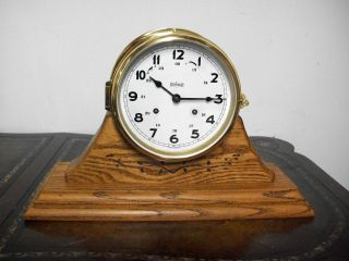 Vintage Stockburger German Ships Clock Working Adn Service By A Clockmaker photo