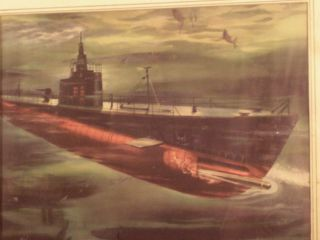 Wwii World War Two Electric Boat Advertising Print Navy Submarine Gdeb Maritime photo