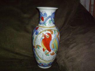 Red Bird Decortive Chinese Ceramic Vase photo