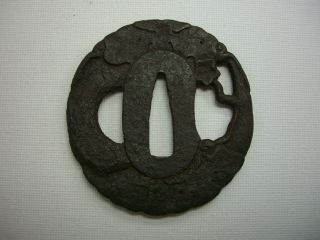 Japanese Tsuba Of The Katana / Samurai Sword / Gourd photo