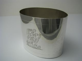 Taxco Handcrafted Solid Sterling Silver Cup Beaker Rancho Alegre Mexico Ca1950s photo