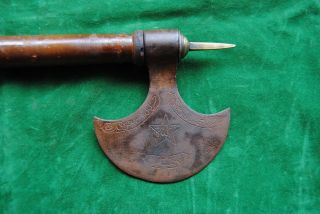 Antique Islamic Ottoman Turkish Dervish Steel Axe Indo Persian Quran Koran photo
