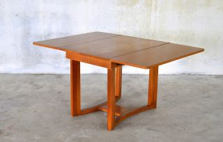 Robsjohn - Gibbings Mid - Century Extension Drop Leaf Dining Table 1950s Widdicomb photo