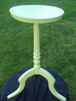 Plant Stand Mid Century Wood Candle Garden Decor Display Excellent Vintage photo