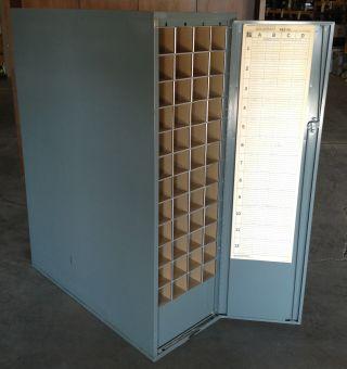 Vintage Metal Industrial Storage Cabinet Roll File Posters/maps/blueprints/paper photo