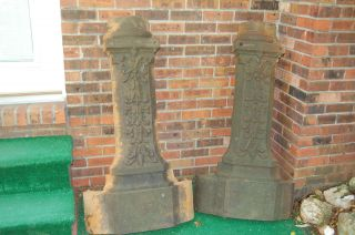 1890 ' S Paducah Ky 4 ' Tall.  Cast Iron Victorian Street Light Base Wrap + Sconces photo