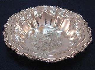 Silver Plate - Bonbon / Nut / Candy Dish - Bowl With Chassed Pattern & Repousse photo