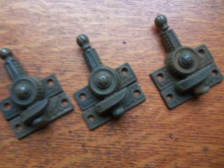 Three Antique Victorian Window Sash Locks Pat.  1869 photo