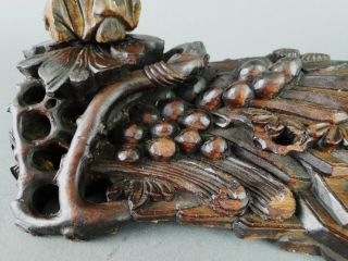 Antique 19c.  Chinese Carved Gilt Wood Female Figure On Carved Wooden Landscape photo