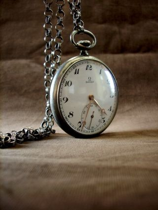 Antique Omega Top Wind Pocket Watch photo